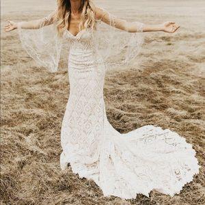 BHLDN lilac wedding dress